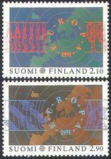 FINLANDE 1991 Europa/Espace/cartes/SATELLITE/RADIO Antenne Aerial/Astronaute 2 V (n41512)