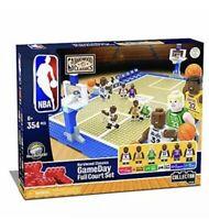 Basic Fun KNEX NBA Gameday Full Court Set Hardwood Classics Edition New Open Box