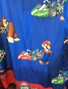 """Super Mario Bros Pair Of Curtains Mario Kart WII 64""""X 41"""""""