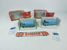 BB233-1# 2x Schuco Junior Line 1:43 Volkswagen Bully/T1: 27004+27174, NEUW+OVP
