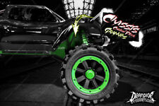 TRAXXAS X-MAXX CHASSIS / SHOCK TOWER PRINTED CARBON FIBER GRAPHICS DECALS GREEN
