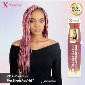 X-Pression Ultra Braid Pre-Stretched hair 170G (already stretched to use)