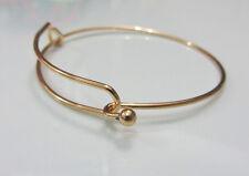 New 1X Expandable adjustable size Bangle DIY Bracelet  Ancient Gold color