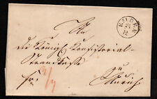 $German Stampless Cover, Emden-Aurich (1848)