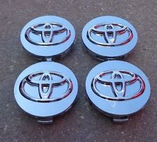 "Toyota Set 4 wheel rim center cap caps insert cover hub 2.5"" 2-1/2"" 62mm chrome"