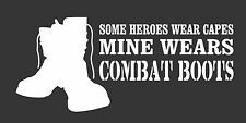 Some Heroes Capes Combat Boots- Die Cut Vinyl Window Decal/Sticker for Car/Truck