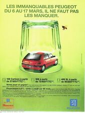PUBLICITE ADVERTISING 116  1997  la Peugeot 306 Cartoon