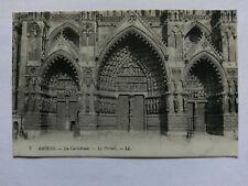 Vintage Amiens France B&W cWW1 Postcard Cathedral Portal