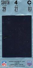 1990 SUPERBOWL XXV TICKET STUB NEW YORK GIANTS - BUFFALO BILLS HOLOGRAM - LT