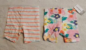 Carter's Baby Girl's 2-Pack Playground Shorts CD4 Multicolor Size 12M NWT