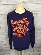 Men's Superdry Sweatshirt - XL - Purple - Great Condition