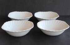 """Set of 4 Johnson Brothers REGENCY White 6"""" Square Cereal Soup Bowls"""
