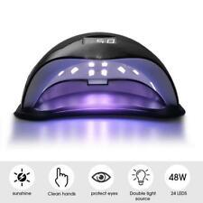 LAMPADA UV LED 48W MANICURE TIMER 30 SENSORE UNGHIE RICOSTRUZIONE FORNETTO NAIL