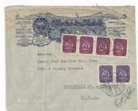 1950 Lisbon Portugal, Illustrated Commercial Airmail to Louisville KY #618, #622