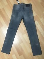 NWD Mens Diesel BUSTER Stretch Denim 0853T GREY R/Slim W29 L30 H6.5 RRP£150.