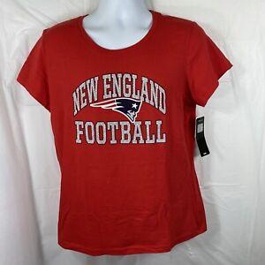 New England Patriots Women's XL T-shirt NWT NFL Team Apparel Majestic Kohls Tee
