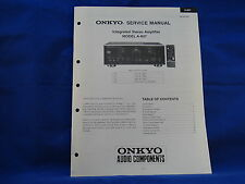 Onkyo A-807 Amplifier Service Manual