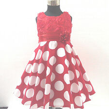 FREE SHIP Reds Christmas Wedding Party Bridesmaid Flower Girls Dresses SIZE 3-4T