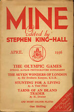 mine : edited by stephen king - hall . april 1936 : stunting for a living !