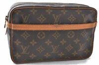 Authentic Louis Vuitton Monogram Compiegne 23 Clutch Hand Bag M51847 LV B0162