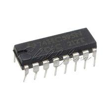 5PCS 2.0 ~ 6.0 V TOP SN74HC595N 74HC595 8-Bit Shift Register DIP-16 IC S