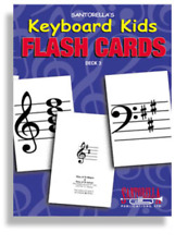 Santorella'S Keyboard Kid'S Flash Cards-Volume 3-New !