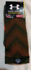 UNDER ARMOUR NFL Combine Authentic Crew Socks SZ M Medium (4-8.5) Green / Orange