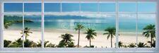 (LAMINATED) BEACH WINDOW VIEW DOOR POSTER (53x158cm)  NEW WALL ART