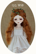 "QQ-02A Synthetic mohair BJD Doll Wig Carrot red color 4-5""/5-6""/6-7""/7-8""/8-9"""