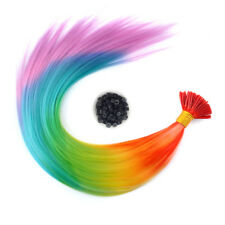 "20"" Rainbow Feather Hair Extensions-Pastel Colour I-Tip Plus FREE Micro Beads"
