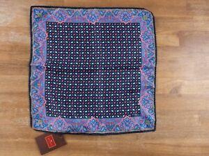 ETRO Milano mini paisley motif silk pocket square authentic - NWT