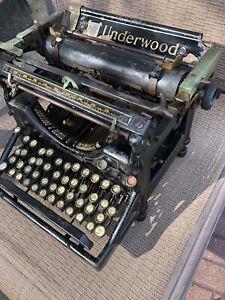 Antique Underwood No. 5 Standard Typewriter; Vintage 1920's