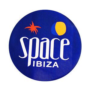 Space Ibiza Club Sticker New Logo Large Blue Bossa Carl Cox