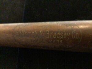 "Vintage Al Lopez 22"" Wood Mini Brown Bat Hillerich & Bradsby H&B 25"
