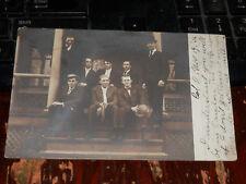 COLUMBUS OHIO - RARE OLD PHOTO POSTCARD Well-Dressed Gentlemen - 1906
