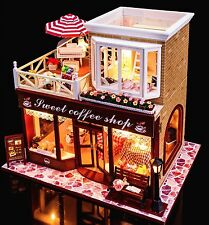 DIY Handcraft Miniature Project Wooden Dolls House My Coffee Shop in Ireland 16