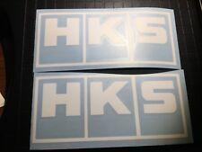 2x HKS Decals - Diecut Vinyl Logo sticker - Aftermarket Parts Stickers JDM Turbo