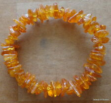 Stretch   honey  Baltic Amber Bracelet