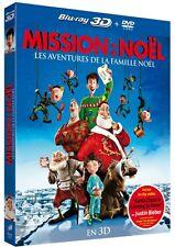 """BLU RAY 3D & 2D + DVD """"MISSION NOËL"""" (Les Aventures De La Famille Noël) NEUF"""