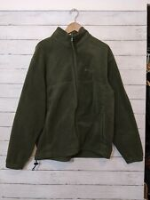 Columbia Full Zip Fleece Sweater Jacket Army Green Men's Size XL EUC