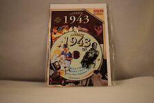 Flickback Greeting or Birthday Card With DVD  For Those Born in 1943    (v417)