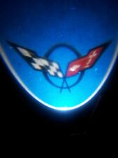 C5 Corvette 1997-2004 LED Projector Lights - Crossed Flags Logo