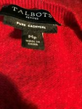 Talbots 100% Cashmere Red Crew Neck Sz MP  ABTUC