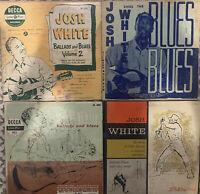 "Josh White 10"" LP Lot (4X)-Decca, Elektra, and Stinson labels"
