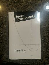 Texas Instruments Ti-83 Plus Calculator Guidebook Instruction Manual Book