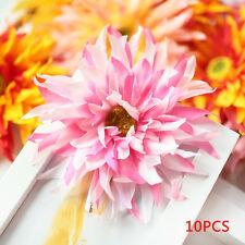 Random DIY 10Pcs Daisy Craft Artificial Flower Heads Silk Floral Wedding Decor