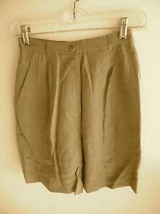 Classiques Entier  Silk Linen Blend Shorts  Gold   2 Side & 1 Hip Pocket   2