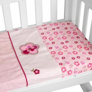 Amani Bebe 3pce Cradle Sheet Set Raspberry Garden
