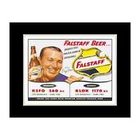 Dizzy Dean for Falstaff Beer - Matted for 11x14 Frame