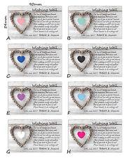 100 Personalised WISHING WELL CARDS General Poem Wedding Invitations